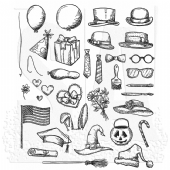 Stampers Anonymous/Tim Holtz - Cling Mount Stamp Set - Crazy Things - CMS237